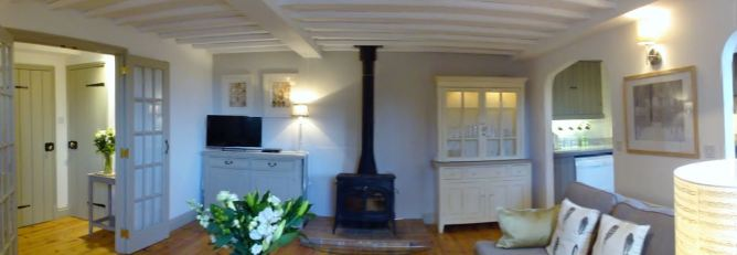 Woodburner in living area